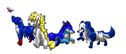 Puppies by Misomie
