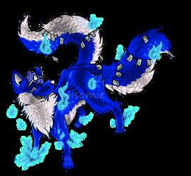 Blue Kitsuon Adopt $5 [open] by Misomie