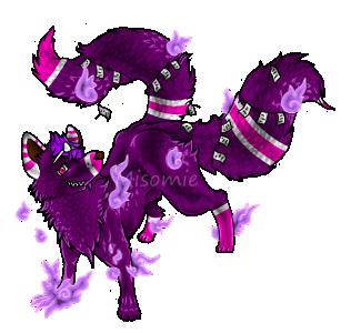 Purple Kitsuon Adopt $5 [Open] by Misomie