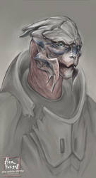 turians are hard to draw by flyingflea