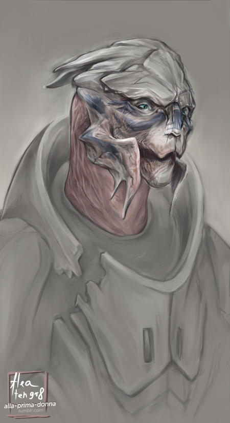 turians are hard to draw