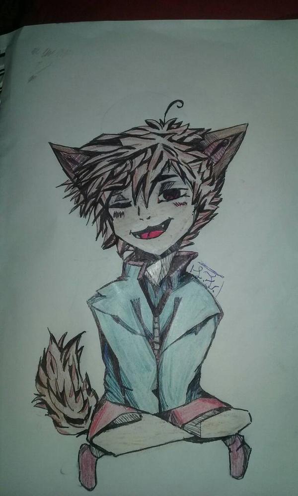 stray kitty  by senpai691