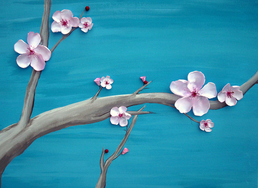 3d cherry blossom painting 1 by sheratosh
