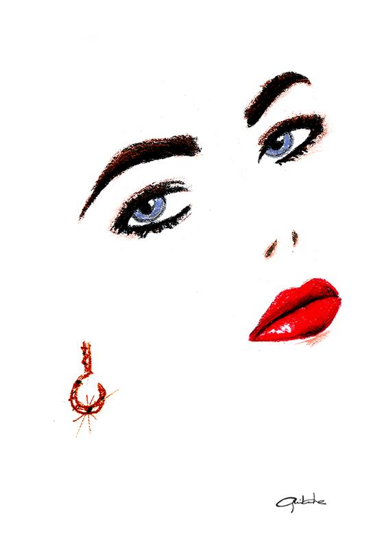 Liz dans les yeux by Guyom