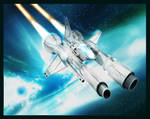 Space Ship. Fighter, Caza by lKaos