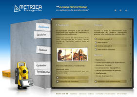 Metrica Topografia Web Design by lKaos