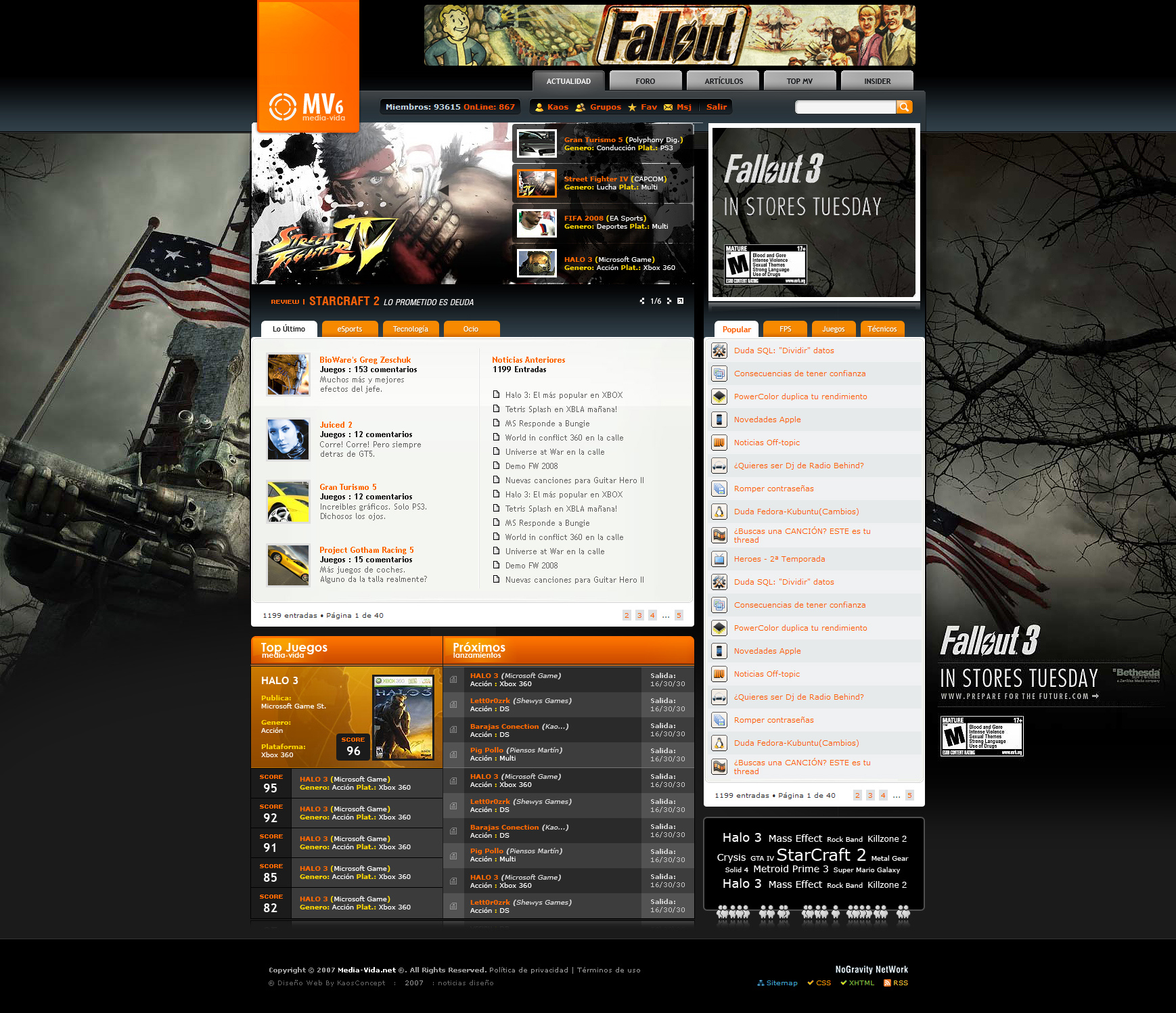 Mediavida Web Design