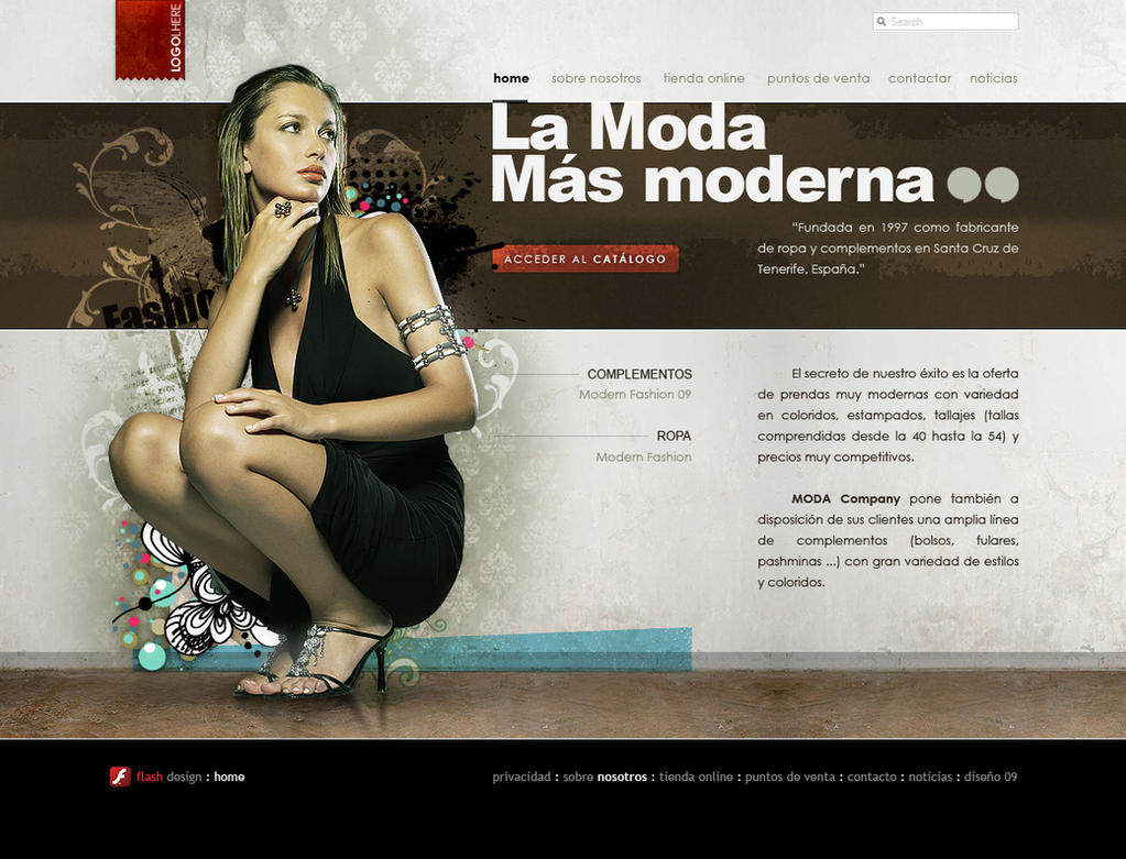 Fashion Web Design by lKaos on DeviantArt