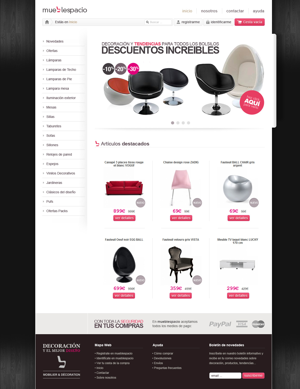 Forniture design online store