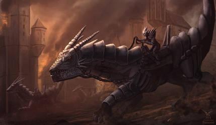 Drake riders by Bamoon