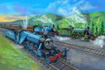 The Three Railway Engines. Re-illustration