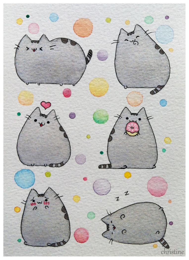 Pusheen the cat by ChristineDim