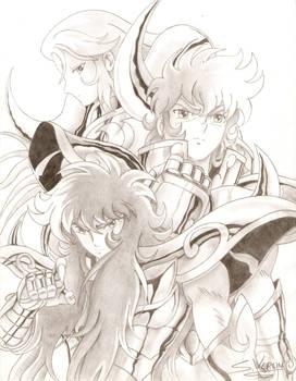 Mu, Milo and Aioria