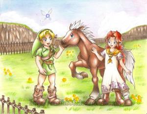 Link meets Malon and Epona