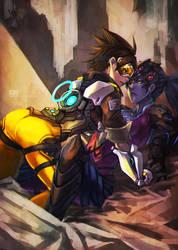 Overwatch Tracer/Widowmaker by MonoriRogue