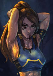 Pharah Doodle by MonoriRogue
