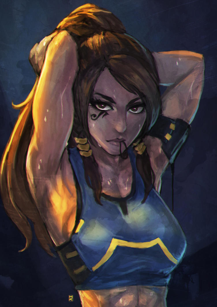 Sweaty pharah after a hard workout gets fucked in her pussy 6