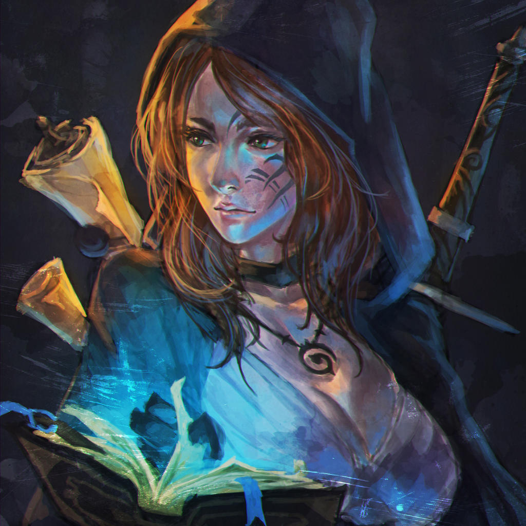 Sorceress Doodle by MonoriRogue