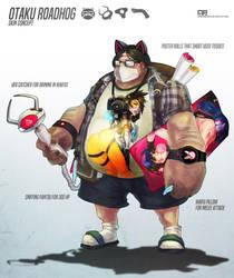 Otaku Roadhog Skin Concept by MonoriRogue