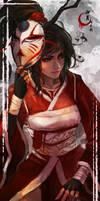 Bloodmoon Akali by MonoriRogue