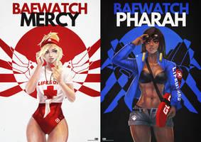 Baewatch Mercy/Pharah by MonoriRogue