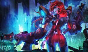 Gun Goddess Miss Fortune by MonoriRogue