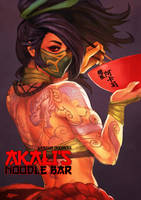 Akali's Noodle Doodle by MonoriRogue
