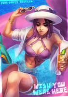 Pool Party Caitlyn by MonoriRogue