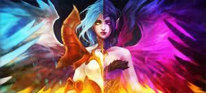 Kayle x Morgana by MonoriRogue