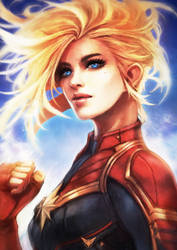 Captain Marvel by MonoriRogue
