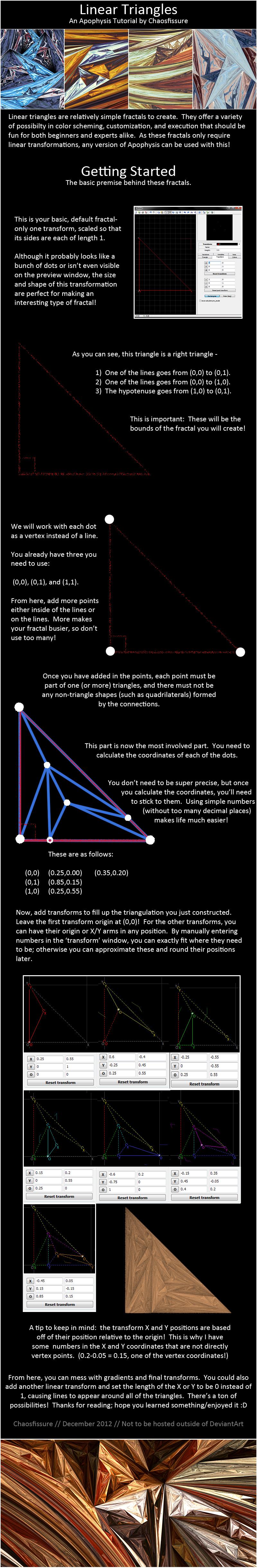 Apophysis - Linear Triangles