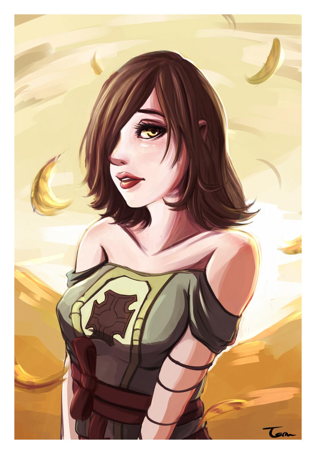 Shanalotte, The Emerald Herald (Dark Souls 2). by Paper-pulp