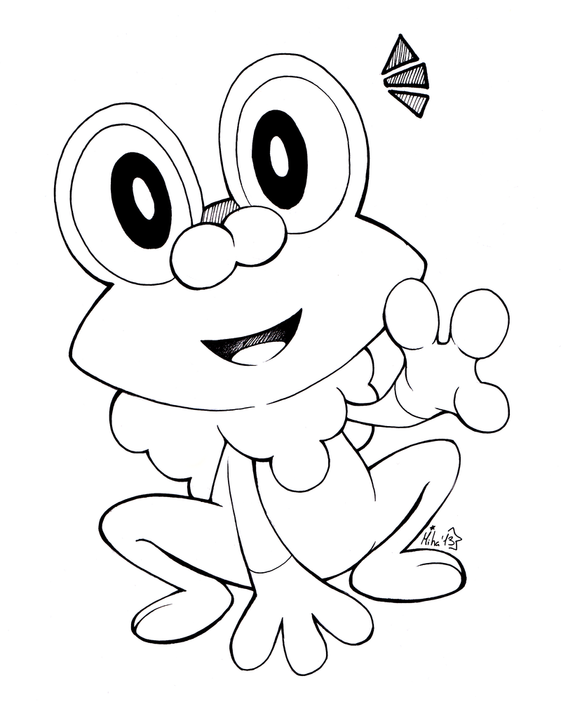 Pokemon Froakie Coloring Pages