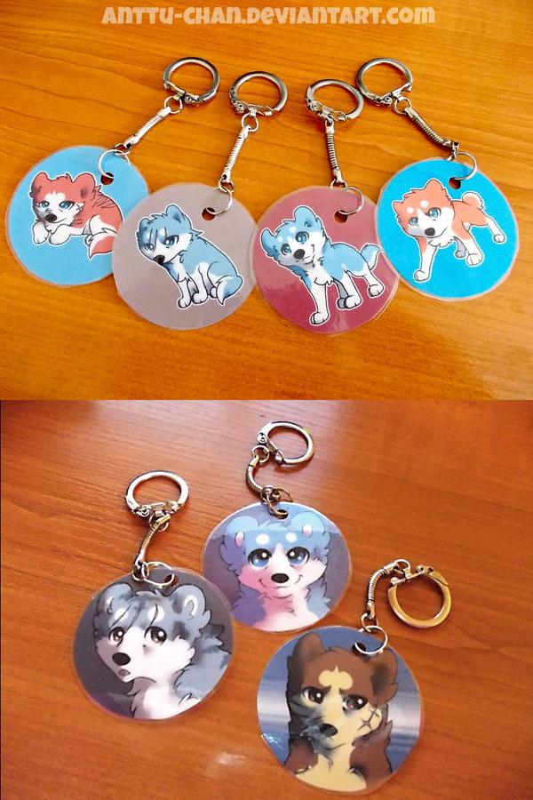 Ginga keychains by Anttu-chan