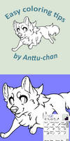 Easy coloring tips by DaimonKitty