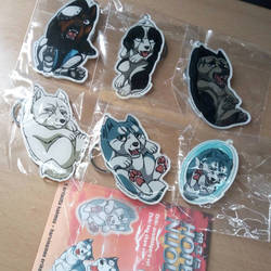 Chibi Ginga keychains by PurePlastic - set 1