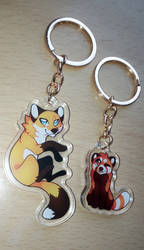 PRE-ORDERS OPEN: Fox and red panda keychains
