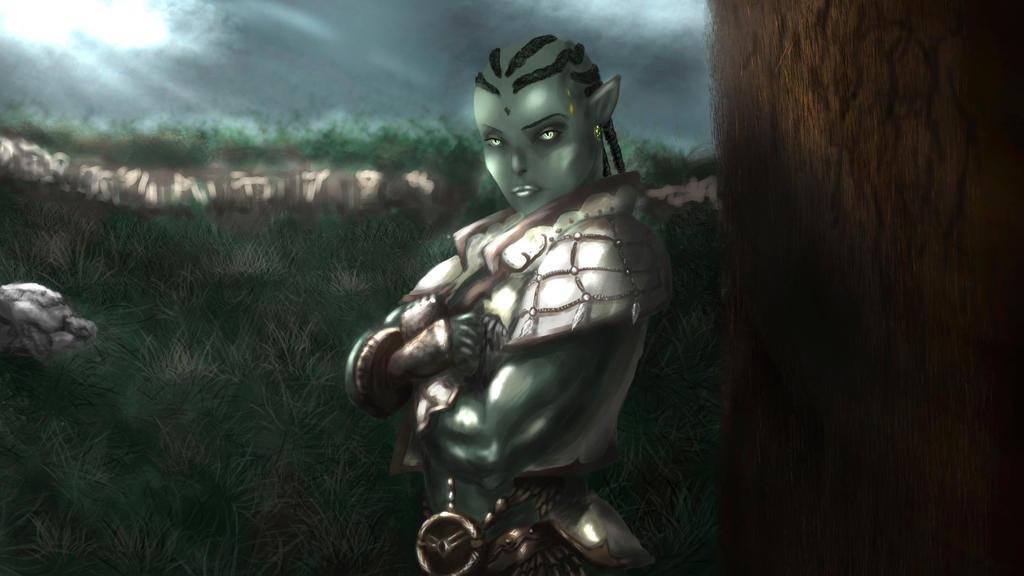 Orc female Hagrashi by MaleksArt