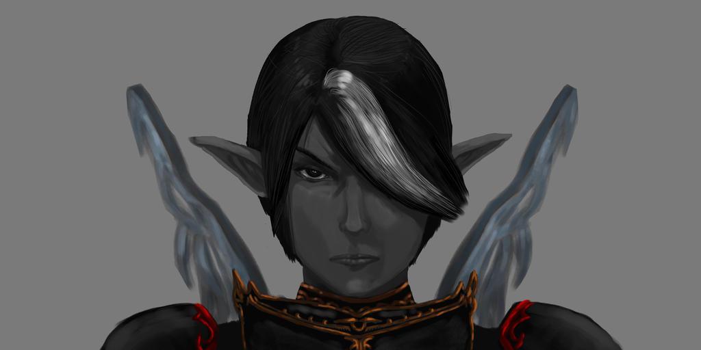 Dark Elf. Alhor - blade dancer. by MaleksArt