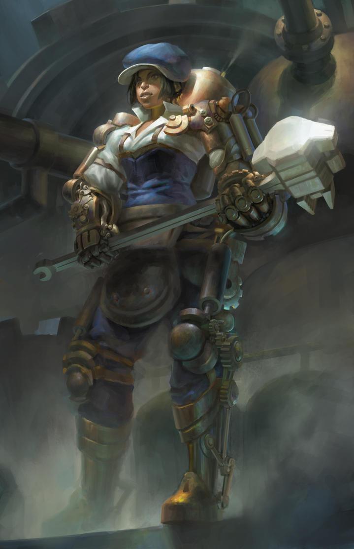 Steampunk Warrior by mwku on DeviantArt