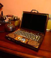The Steampunk Laptop by Zackary