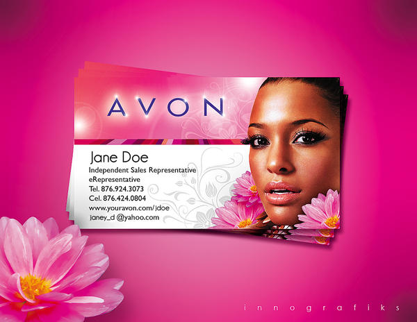 Avon business card by innografiks on deviantart avon business card by innografiks reheart Choice Image