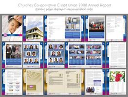 CCCU Annual Report Layout by innografiks