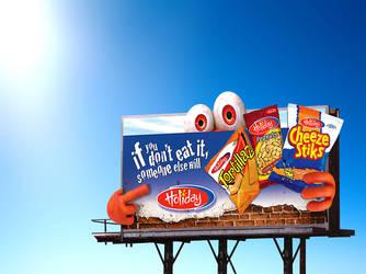 Holiday Snacks Billboard by innografiks
