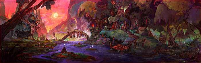 Witch village by AntoinetteStoll