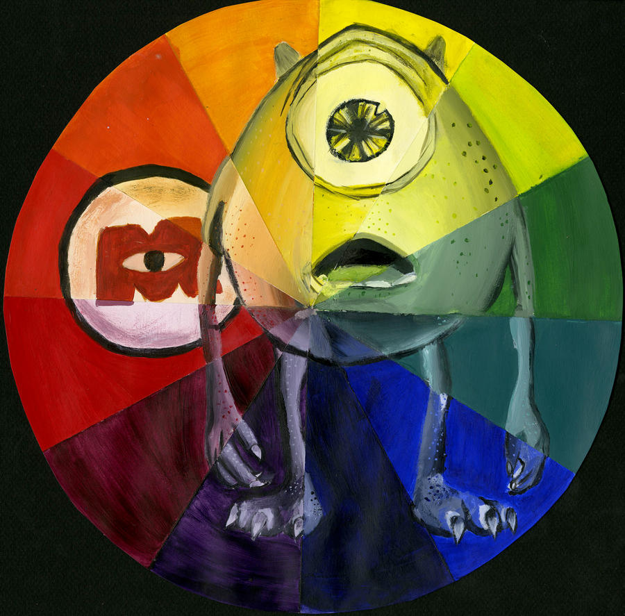 Mike Wazowski Color Wheel By Sneri