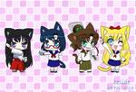 Inner Senshi cats