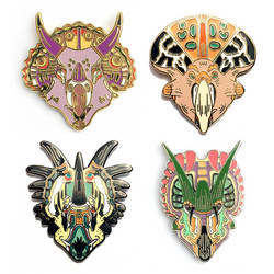 Ceratopsid pins by greer-stothers