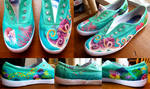 Coral Reef Painted Shoes by RobinVance