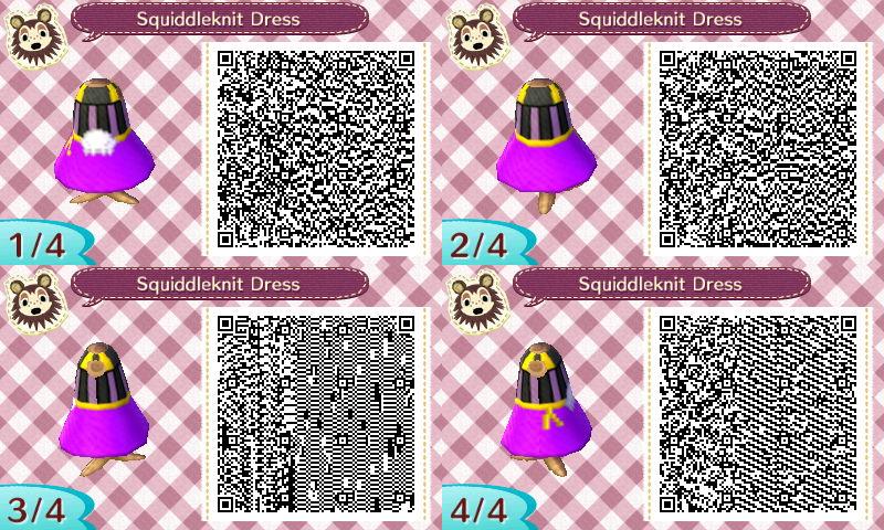 Velvet Squiddleknit Dress QR Code - AC:NL by Pelixia